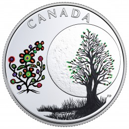 2018 Canadian $3 Thirteen Teachings From Grandmother Moon: Flower Moon - Fine Silver Coin