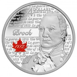 2012 Canada Fine Silver $4 Coin - Heroes of 1812, Sir Isaac Brock