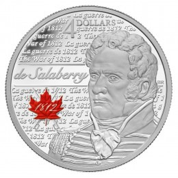 2013 Canada Fine Silver $4 Coin - Heroes of 1812, Charles-Michel De Salaberry