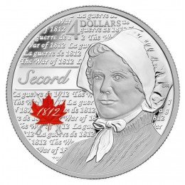 2013 Canada Fine Silver $4 Coin - Heroes of 1812, Laura Secord