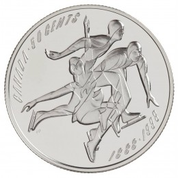 1998 Sterling Silver 50 Cent Coin - Canadian Sports Firsts: First Official Amateur Figure Skating Championship