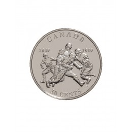 1999 Sterling Silver 50 Cent Coin - Canadian Sports Firsts: First Grey Cup Game