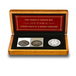 2008 Canada Sterling Silver 50 Cent Coin & Stamp Set - Royal Canadian Mint 100th Anniversary
