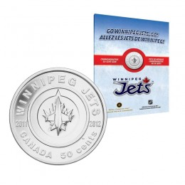 2011-2012 Canada NHL® 50 Cent Commemorative Coin - Winnipeg Jets