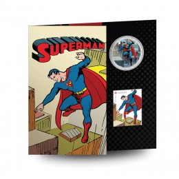 2013 Canadian 50-Cent Superman™: Then and Now - Lenticular Coin and Stamp Set