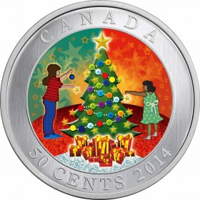 2014 Canadian 50-Cent Christmas Tree Holiday Lenticular Coin