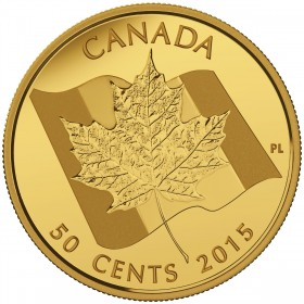2015 Canada Pure Gold 50 Cent Coin - Maple Leaf