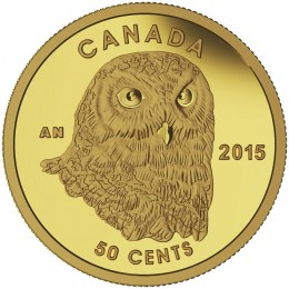 2015 Canada Pure Gold 50 Cent Coin - Owl
