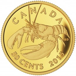 2015 Canadian 50-Cent Lobster - 1/25 oz Pure Gold Coin