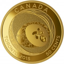 2015 Canadian 50-Cent TORONTO 2015™ Pan Am and Parapan Am Games: Celebrating Excellence - Gold-plated Coin