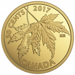 2017 Canada Pure Gold 50-cent Coin - The Silver Maple Leaf