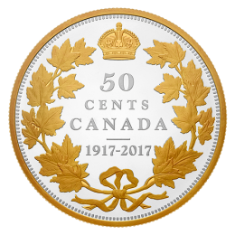 2017 (1917-) Canadian 50-cent 1917 Renewed Half-Dollar 100th Anniv 2 oz Fine Silver Coin *Masters Club Exclusive*