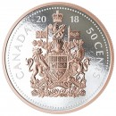 2018 Canadian 50-Cent Big Coin Series: Coat of Arms - 5 oz Fine Silver Coin