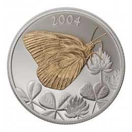 2004 Canadian 50-Cent Clouded Sulphur Butterfly Sterling Silver & Gold-plated Coin
