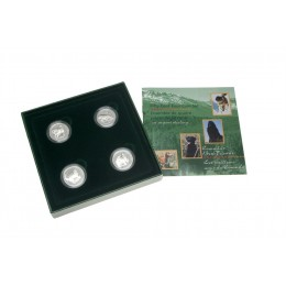 1997 Canadian 50-Cent Discovering Nature: Canada's Best Friends Proof Silver 4-Coin Set