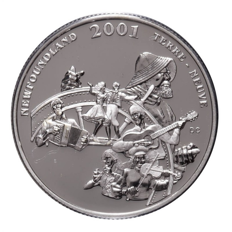 2001 Canada Sterling Silver 50 Cent Coin Festivals Folk