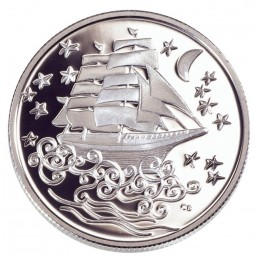 2002 Canada Sterling Silver 50 Cent Coin - Le Vaisseau Fantome (The Ghost Ship)