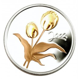 2002 Canada Sterling Silver 50 Cent Coin - Golden Flower Series: Tulip