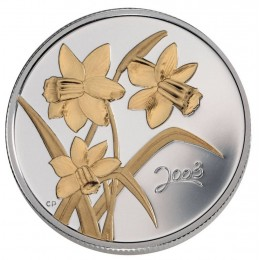 2003 Canada Sterling Silver 50 Cent Coin - Golden Flower Series: Daffodil