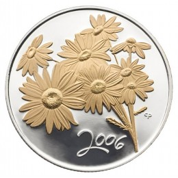 2006 Canada Sterling Silver 50 Cent Coin - Golden Flower Series: Daisy