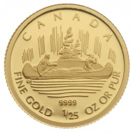 2005 Canada 1/25 oz Pure Gold 50 Cent Coin - Voyageur