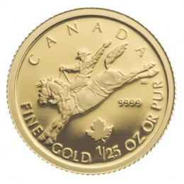 2006 Canada 1/25 oz Pure Gold 50 Cent Coin - Cowboy