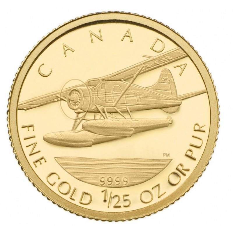 2008 Canada 1 25 Oz Pure Gold 50 Cent Coin De Havilland