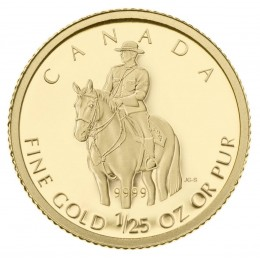 2010 Canada 1/25 oz Pure Gold 50 Cent Coin - Royal Canadian Mounted Police