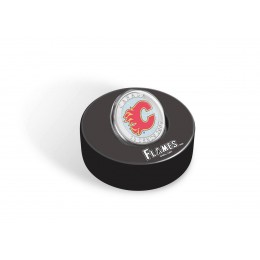2009 Canada NHL® Puck & 50 Cent Coin Set - Calgary Flames