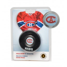2009 NHL Puck & 50 Cent Coin Set - Montreal Canadiens