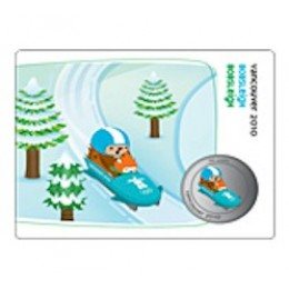 2010 Canada Olympic Mascot 50 Cent Coin Collector Card - Bobsleigh