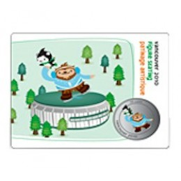 2010 Canada Olympic Mascot 50 Cent Coin Collector Card - Figure Skating