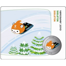 2010 Canada Olympic Mascot 50 Cent Coin Collector Card - Skeleton