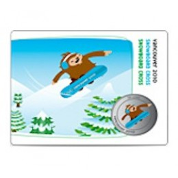 2010 Canada Olympic Mascot 50 Cent Coin Collector Card - Snowboard Cross