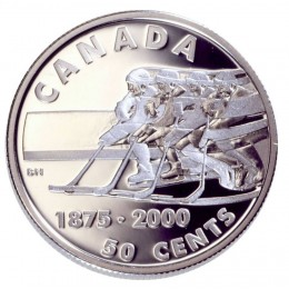 2000 Sterling Silver 50 Cent Coin - First Recorded Hockey Game