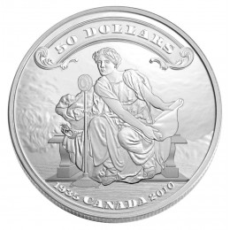 2010 Canada 5 oz Fine Silver $50 Coin - 75th Anniversary of the First Bank Notes Issued by the Bank of Canada