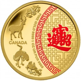 2014 Canada Pure Gold $50 Coin - Five Blessings