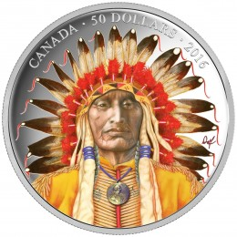 2016 Canadian $50 Wanduta: Portrait of a Chief - 5 oz Fine Silver Coin