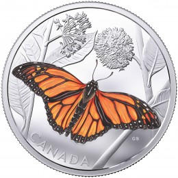 2017 Canada Fine Silver $50 Coin - Monarch Migration