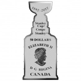 2017 Canadian $50 125th Anniversary of the Stanley Cup® - 3 oz Fine Silver Coin