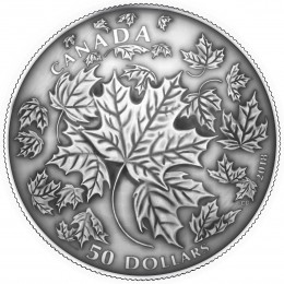 2018 Canada Fine Silver 5 oz $50 Coin - Maple Leaves in Motion (Convex Coin)