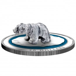 2018 Canadian $50 Soapstone Sculpture: Polar Bear - 5 oz Fine Silver Coin