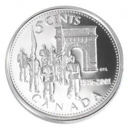 2001 Canada Sterling Silver 5 Cent Coin - Royal Military College of Canada
