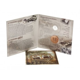 2004 Canada Sterling Silver 5 Cent Coin Gift Set - 60th Anniversary of the D-Day Landing