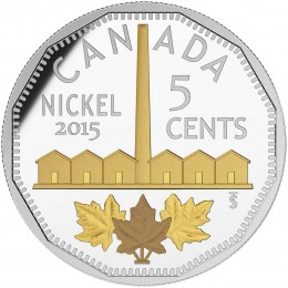 2015 Canada Fine Silver 5 Cent Coin - Legacy of the Canadian Nickel: The Identification of Nickel