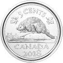 2018 Canadian 5-Cent Beaver (Brilliant Uncirculated)