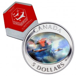 2006 Canadian Forces $5 Snowbirds Double Hologram Silver Coin & Stamp Set