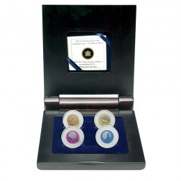 2011-2012 Canada Full Moon Sterling Silver and Niobium 4-Coin Set in Display Case