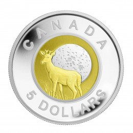 2011 Canada Sterling Silver and Niobium $5 Coin - Full Buck Moon