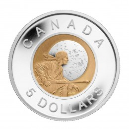 2011 Canada Sterling Silver and Niobium $5 Coin - Hunter's Moon